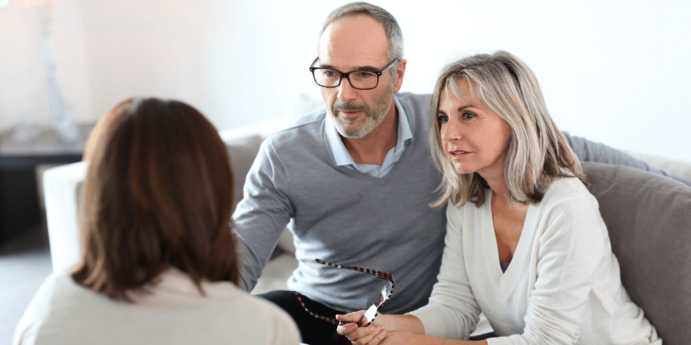 Couple receiving pension transfer advice under contingent charging model