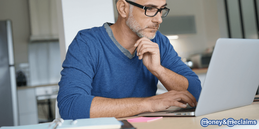 Man researching pension freedom